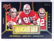 2016 Panini Black Gold Franchise Gold Montana Rice Lott #D19/25 #FG17 *71357
