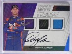 2017 Absolute Tools OF Trade Denny Hamlin metal tire autograph #D/15 *71175