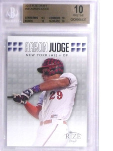 2013 Rize Draft Aaron Judge rc rookie #36 BGS 10 Pristine Yankees *71864