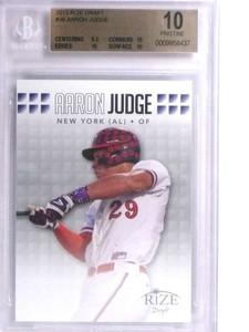 2013 Rize Draft Aaron Judge rc rookie #36 BGS 10 Pristine Yankees *71864