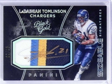 2016 Black Gold Sizeable Ladainian Tomlinson autograph auto 4clr patch /15 *71927