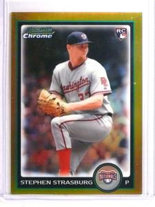 2010 Bowman Chrome Gold Refractor Stephen Strasburg rc rookie #d46/50 *72335