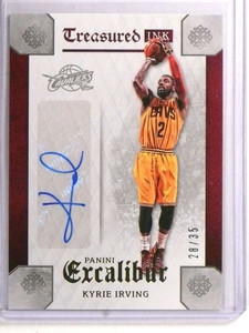 2015-16 Panini Excalibur Treasured Ink Kyrie Ink autograph auto #D28/35 *72250