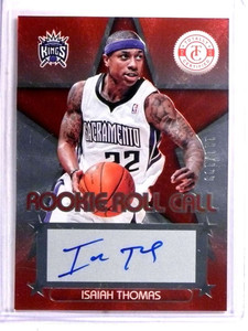 2012-13 Totally Certified Rookie Roll Call Isaiah Thomas autograph rc /199 *72284