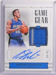 2017-18 National Treasures Game Gear Aaron Gordon autograph jersey /49 *72327