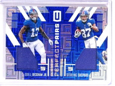 2017 Panini Unparalleled Odell Beckham Sterling Shepard jersey #D23/25 *72376