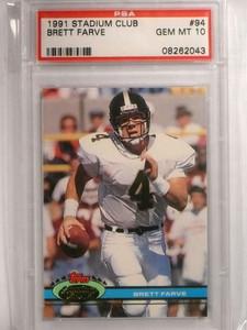 1991 Stadium Club Brett Favre rc rookie #94 PSA 10 GEM MINT *72450