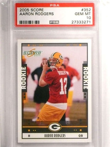 2005 Score Aaron Rodgers rc rookie #352 PSA 10 GEM MINT Packers *72459