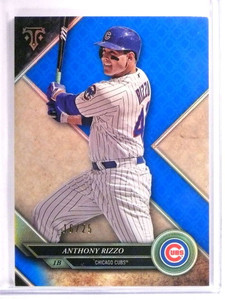 2017 Topps Triple Threads Sapphire Parallel Anthony Rizzo #D16/25 #8 *72693