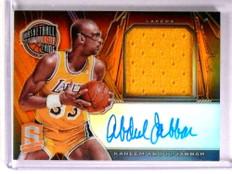 2013-14 Spectra Hall Of Fame Kareem Abdul-Jabbar autograph jersey #d8/15 *72750