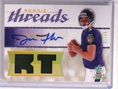 2008 Sp Rookie Threads Joe Flacco autograph auto patch rc #D01/25 *72761