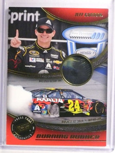 2014 Press Pass Burning Rubber Jeff Gordon victory race-used tire #JG3 *72683
