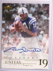 2001 Upper Deck NFL Legends Johnny Unitas autograph auto #JU *72985