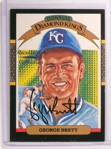 2002 Diamond Kings Recollection Collection George Brett autograph #D3/6 *73022