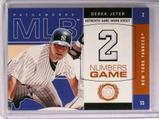 2003 Fleer Patchworks Numbers Game Derek Jeter jersey #DJ-NG *72889