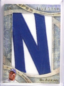 "2014 Topps Five Star Bo Jackson Nameplate Letter Patch ""N"" #D 1/1 Royals *72984"