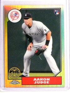 2017 Topps Chrome 87 Topps Aaron Judge rc rookie #87T-8 *73327