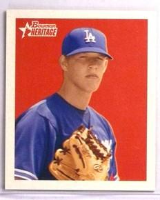 2006 Bowman Heritage Mini Draft pick Clayton Kershaw rc rookie #BHP85 *73379