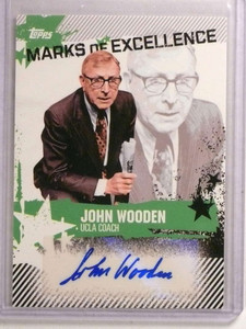 2006-07 Topps Marks of Excellence John Wooden autograph auto #ME-JWO *73112
