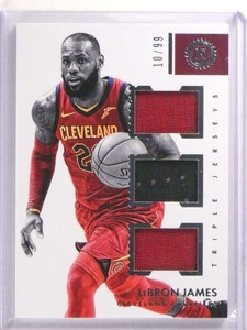 2017-18 Panini Encased Lebron James Triple jersey #D10/99 #TJ-LJ *73124