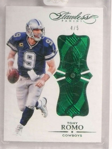 2016 Panini Flawless Green Emerald Tony Romo #D4/5 #20 Cowboys *73044