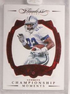 2016 Flawless Cowboys Championship Emmitt Smith ruby red #D14/15 *73045