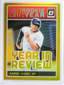 2018 Donruss Optic Year In Review Gold Prizm Aaron Judge #D03/10 #YR1 *73487