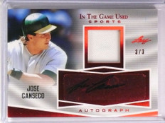 2018 Leaf In The Game Used Sports Jose Canseco autograph auto jersey #D3/3 *73647