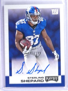2016 Panini Playoff Sterling Shepard Rookie RC Autograph Auto #D183/199 *73995