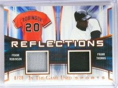 2018 Leaf ITG Used Reflections Frank Robinson Thomas dual jersey #D8/20 *73892