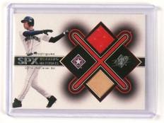 2001 Upper Deck SPX Alex Rodriguez Winning Materials Bat Jersey Dual AR1 *45343