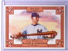 2006 Topps Allen & Ginter Promos Alex Rodriguez Rip Card Ripped *75398