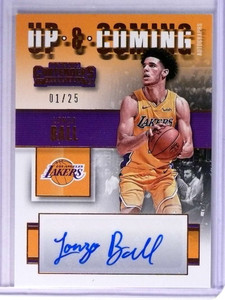 2017-18 Panini Contenders Up & Coming Lonzo Ball Rookie Autograph #D01/25 *75353