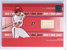 2005 Donruss Elite Back 2 Back Jacks Mike Schmidt Thome Bat #D32/50 #BBJ33 *75727