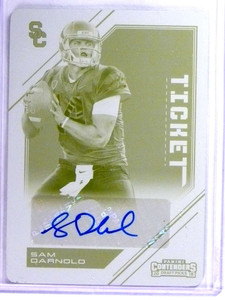 2018 Panini Contenders Draft Sam Darnold autograph rc Printing Plate #D1/1 *76783