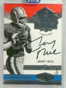 2018 Panini Honors Hall Of Fame Calligraphy  Jerry Rice autograph auto 1/1 *76926