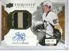 2016-17 Upper Deck Exquisite Sidney Crosby autograph auto patch #D04/10 *76918