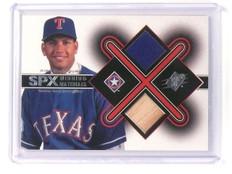 2001 Upper Deck SPX Alex Rodriguez Winning Materials Bat Jersey Dual *45139