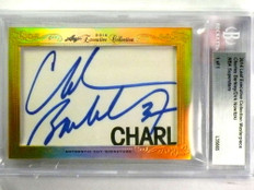 2014 Leaf Executive Charles Barkley Dirk Nowitzki dual autograph auto 1/1 *78219
