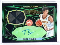 2018-19 Panini Obsidian Trae Young autograph auto jersey rc rookie #D07/15 *78298
