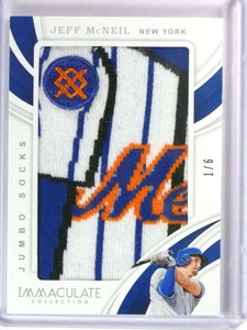 2019 Panini Immaculate Jeff Mcneil rookie Jumbo Socks patch #D 1/6 *78428