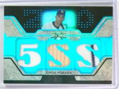 2008 Topps Triple Threads Sapphire Jorge Posada jersey bat #D2/3 #TTR-118 *78566