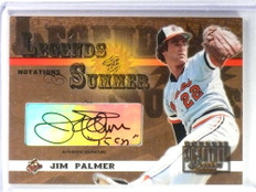 2003 Donruss Signature Legends Summer Jim Palmer Autograph #D082/140 #LS20 *80600