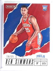 2017 Panini Father's Day Thick Stock Ben Simmons Rookie RC #D16/25 #36 *80579