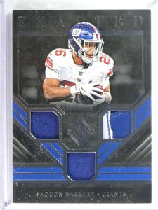 2019 Majestic Exalted Triple Materials Silver Saquon Barkley Patch Jersey  /49 *80665