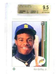 1989 Upper Deck Ken Griffey Jr. rc rookie #1 BGS 9.5 GEM MINT *80694