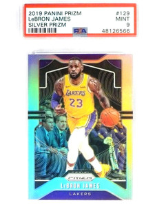 2019-20 Panini Prizm Silver Parallel Lebron James #129 PSA 9 MINT Lakers *80715