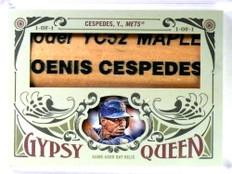 SOLD 28407 2016 Topps Gypsy Queen Yoenis Cespedes Prime Relics Bat Barrell 1/1 *80724