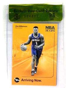 2019-20 Panini Hoops Arriving Now Zion Williamson rc rookie BGS RCR 9.5 *80835