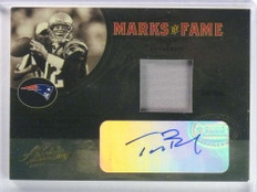 2005 Playoff Absolute Marks of Fame Tom Brady autograph auto patch #/10 *81128